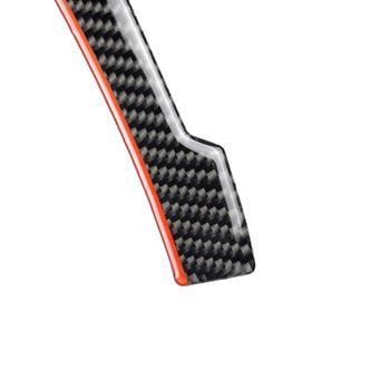 2 sztuk z włókna węglowego lusterko wsteczne antykolizyjna naklejka ochronna dla Benz w204 w212 A B C E G GLA GLE GLK tanie i dobre opinie CN (pochodzenie) Inne Do naklejania 7 4inch Naklejki Zmieniające kolor Włókno węglowe 0 9inch Bez opakowania black