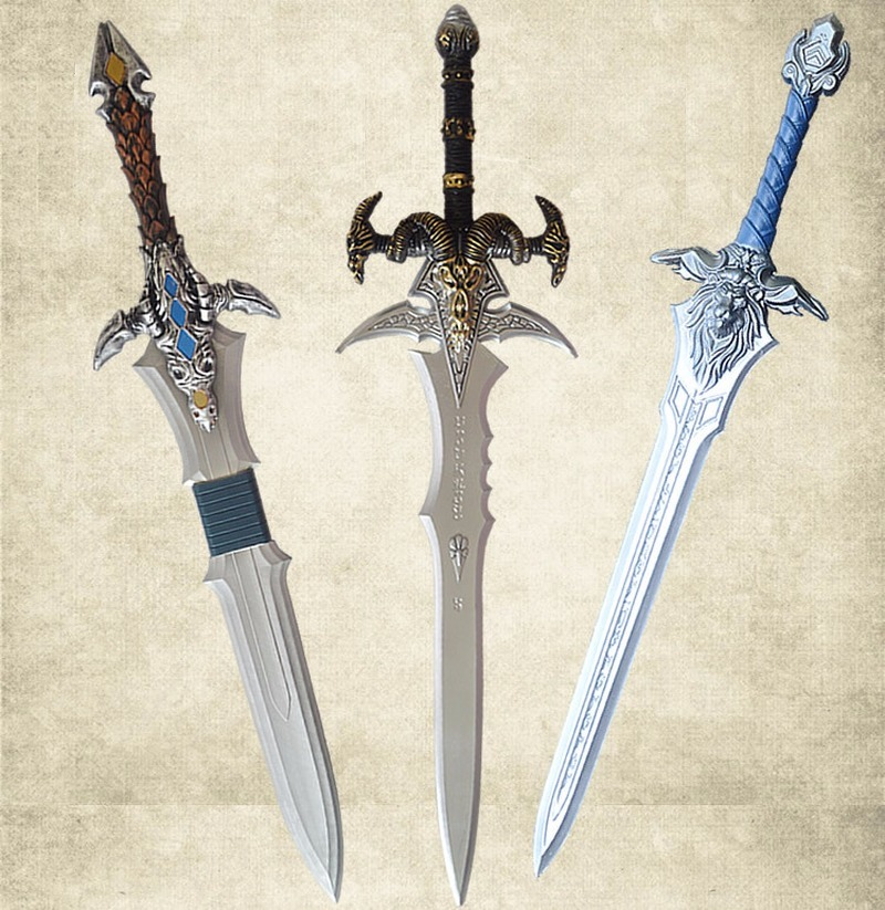 2019 NEW World Of Frost Sad Sword Cos Weapon Toy Sword Children Simulation Sword Model Weapon Pu Prop