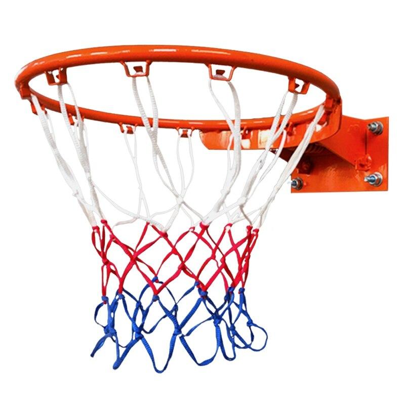 Высококачественная прочная баскетбольная сетка стандартного размера с нейлоновой нитью для занятий спортом, баскетбольная сетка, плотная ...