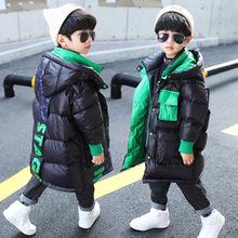 Odzież dziecięca chłopcy zimowe bawełniane ubrania chłopięce chłopięce ubrania chłopięce płaszcze i kurtki dziecięce chłopięce tanie tanio NoEnName_Null Włókno poliestrowe COTTON CN (pochodzenie) Moda Cartoon long Z kapturem zipper REGULAR Pasuje prawda na wymiar weź swój normalny rozmiar
