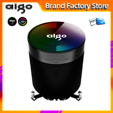Aigo CPU Kühler ARGB aura sync 4PIN 5 Reinem Kupfer Wärme rohre einfrieren Turm Kühlsystem CPU Kühlung pwm led rgb Fan Kühler
