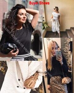 Image 3 - Luxury Designer New Cloud Shape Women Day Clutch Bag Pleated Dumpling Shoulder Messenger Bag Small Cute Lady Crossbody Handbag