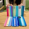 Colorful Strip Phone Case for iPhone 12 11 Pro Max Camera Lens Protective Cover for iPhone XR X XS Max Se 2020 7 8 Plus Couque