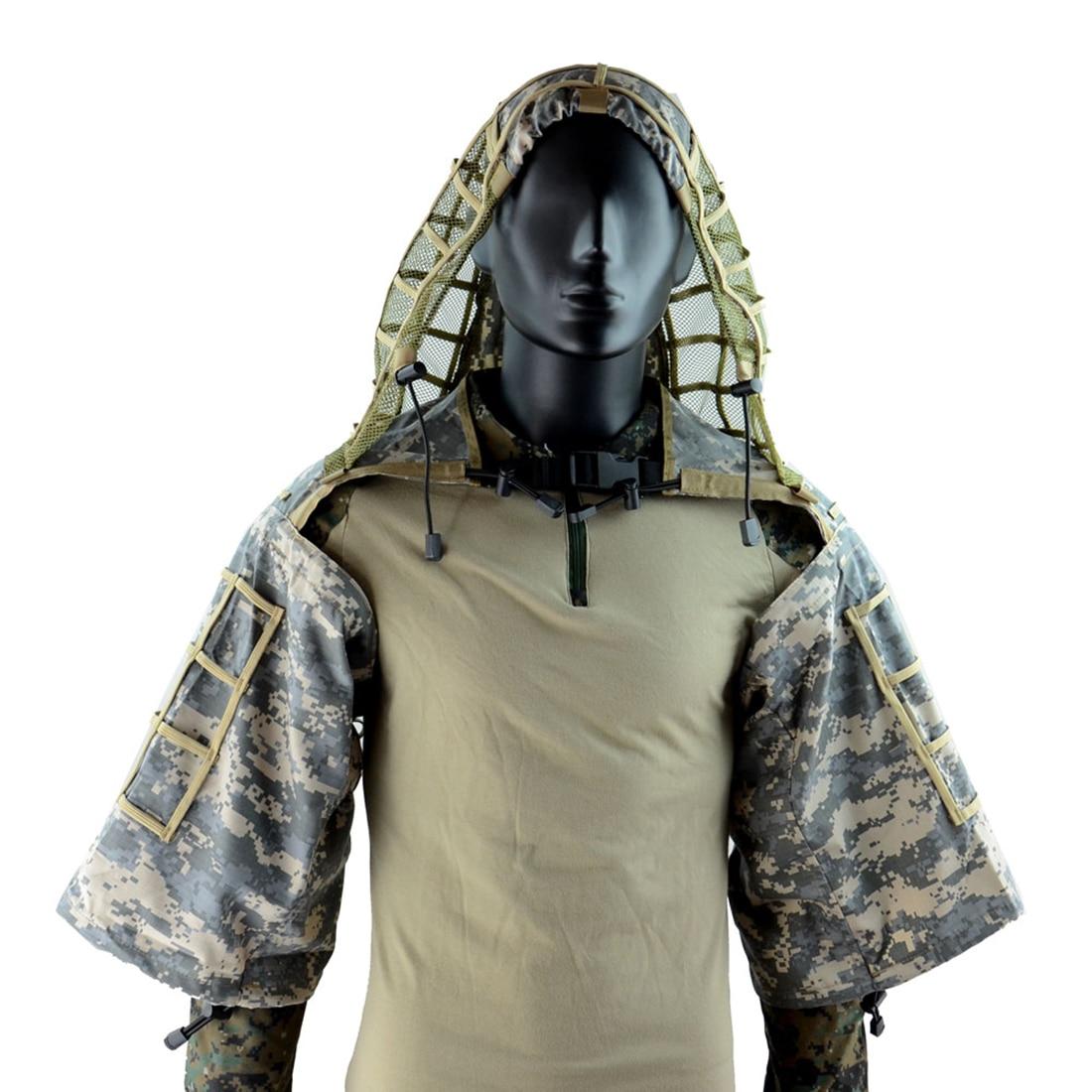 Modiker Ghillie costume base tactique Ghillie capuche tactique Camouflage manteau-taille libre ACU