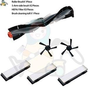 5-arm szczotka boczna główne szczotka rolkowa filtr HEPA do Neato Botvac D7 D3 D4 D5 D6 podłączone D70-D85 części zamienne akcesoria do odkurzaczy