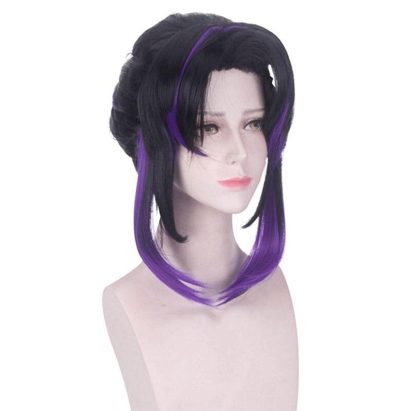 Косплей парик Kimetsu no Yaiba Kochou Shinobu Kochou Kanae Tsuyuri Kanawo, аксессуары для косплея