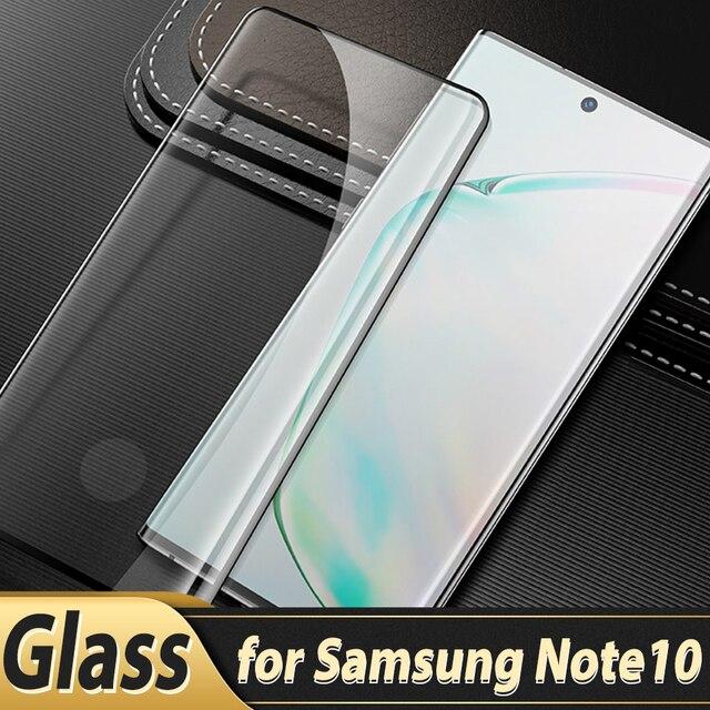 Vidrio templado para Samsung Galaxy note 10, Protector de pantalla con borde curvado completo, vidrio Protector para Samsung note 10 Plus + Pro 5G
