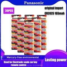 Original PANASONIC 30 pçs/lote cr2025 Botão Célula Baterias 3V jogo Moeda De Lítio, câmera digital, filmadora BR2025 DL2025 CR 2025