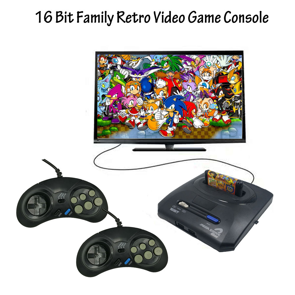 16 bit Video Game Console with US and Japan Mode Switch AV-out for Original Handles Export Russia with 300 500 600 Classic Games(China)