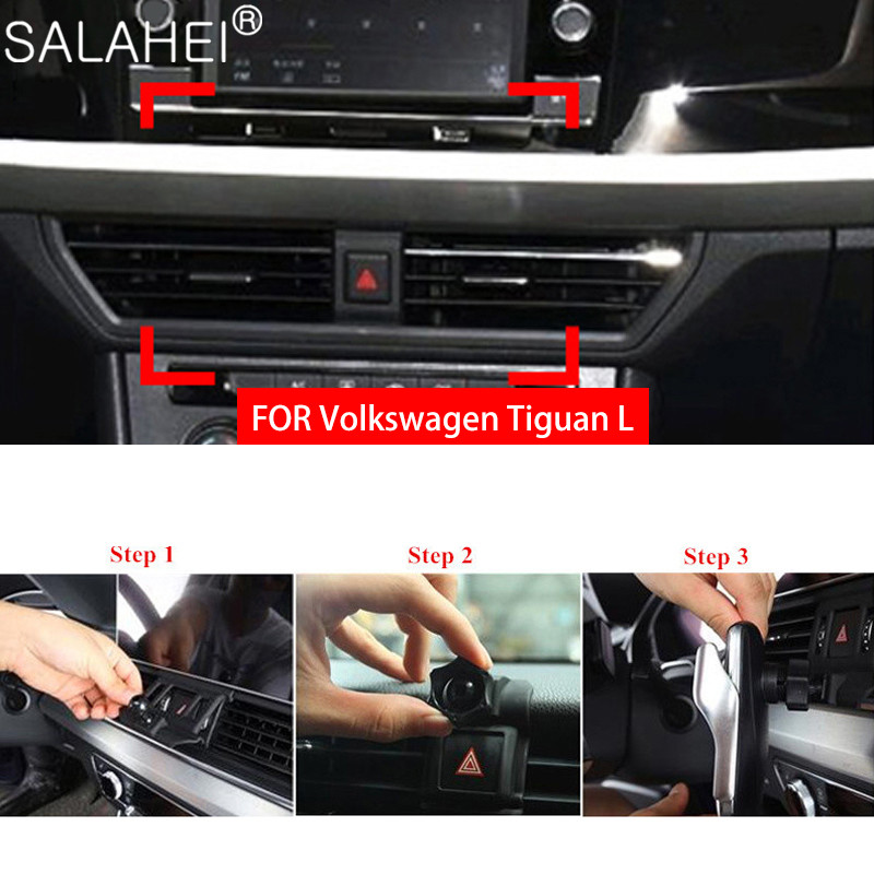 Car Special Mobile Phone Holder Bracket For VW Volkswagen Tiguan L 2018 2019 2020 Air Vent Mount Dashboard Smartphone GPS Stand