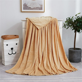 Solid Soft Living Room Bedroom Air Conditioning  Sleeping Cover Bed Blankets for Sofa Bedding Throws Blanket for Adults Kids 1