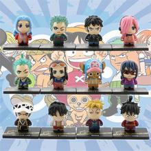 12pcs/set Mini One-Piece Action Figure Toys Q.ver Anime Shanks Luffy Lucci Moria Enel Sabo PVC Figure Boy Doll Collectible Model стоимость