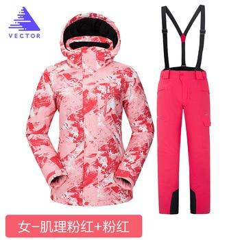 Snowboarding Suits Women Winter Windproof Waterproof Female Ski Jacket And Snow Pants Sets Super Warm Brands Suit
