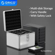 ORICO z aluminium 15 Bay dysk twardy ochrona skrzynka bezpieczeństwa z blokadą przechowywania dla 2.5 3.5 ''HDD M.2 SSD 5/10 Bay dla 3.5'' HDD