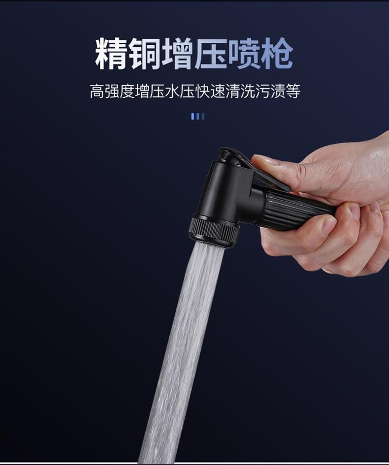 H7afca49cba8946718d3a8fda64e41e0an AE02XC-0008 bathroom shower system full copper black digital display thermostatic shower set four-speed pressurized shower head
