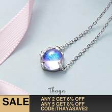 Thaya Silver 925 jewelry Bohemia Original Design Provence Colorful Choker 925 Sterling Silver for Women Fine Purple Jewelry Gift(China)