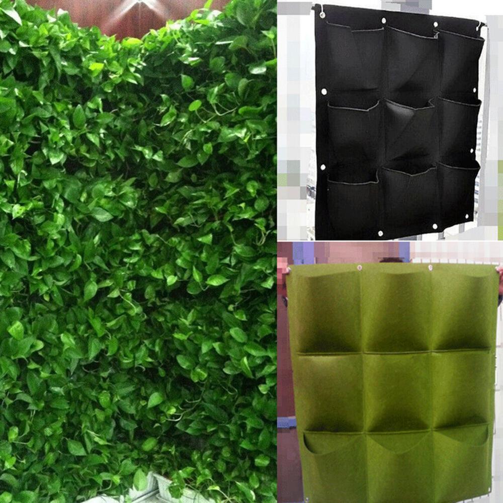 6/7/9/18 карманные вертикальные подвесные мешки для выращивания растений, Подвесной Настенный пакет для выращивания цветов, контейнер для пос...
