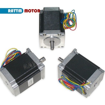 3PCS NEMA23 76mm/ 270Oz-in/ 3A CNC stepper motor stepping motor for CNC router Milling engraving machine image