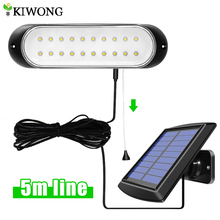 20leds Separable Solar Light With 5m Line Outdoor Indoor Waterproof Solar Lamp Pull Switch Lighting For Garden House Room Yard