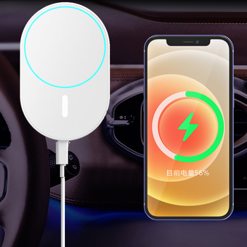 15W Car Vent Mount Magnetic Wireless Charger & Charger Bracket Holder For iPhone 12 Pro Max Mini iPhone12 Series Fast charging image