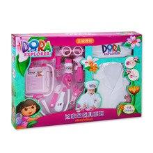 Дора дети доктор игрушка набор медицина коробка от 3 до 6 лет маленькая девочка игровой дом инъекции модель инструмент