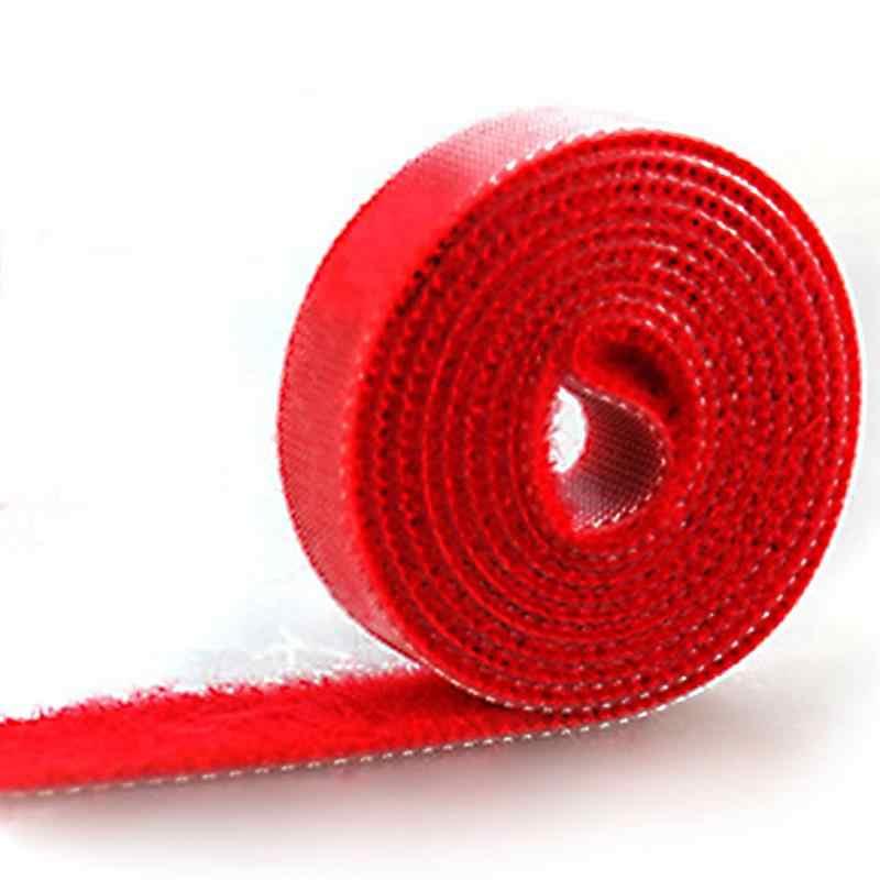 1M DIY פלסטיק ניילון כבל קשרי מנהל המותח כבל קליפ קשרי סקוטש רצועת סרט חוט רצועת חותמות משרד שולחן עבודה ניהול