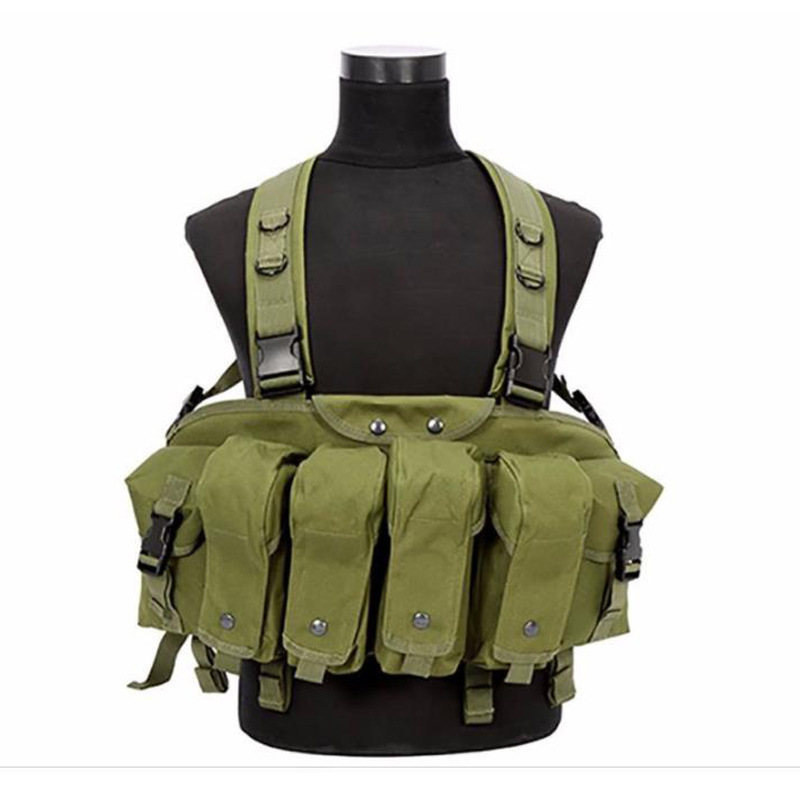 Chest Vest In The Free Air Military Camouflage Tactica Airsoft Collection Combat Transportation Rig Breast Munition Bp43