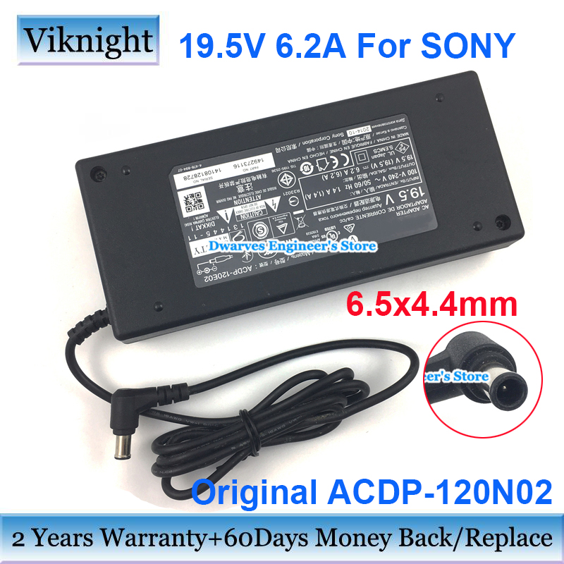 Original 19.5V 6.2A 121W ACDP-120N02 AC Adapter Power Supply For SONY KDL Series KDL-42W670A KDL-42W650A 55W950A LCD Monitor