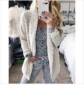 Autumn Winter Coat Women 2019 Fashion Vintage Slim Double Breasted Jackets Female Elegant Long Warm White Coat casaco feminino 91