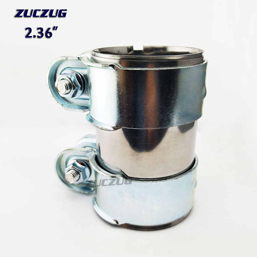 """42mm 1/"""" 5//8 Exhaust Repair Pipe Tube Connector Joiner Sleeve Clamp On or Weld On"""