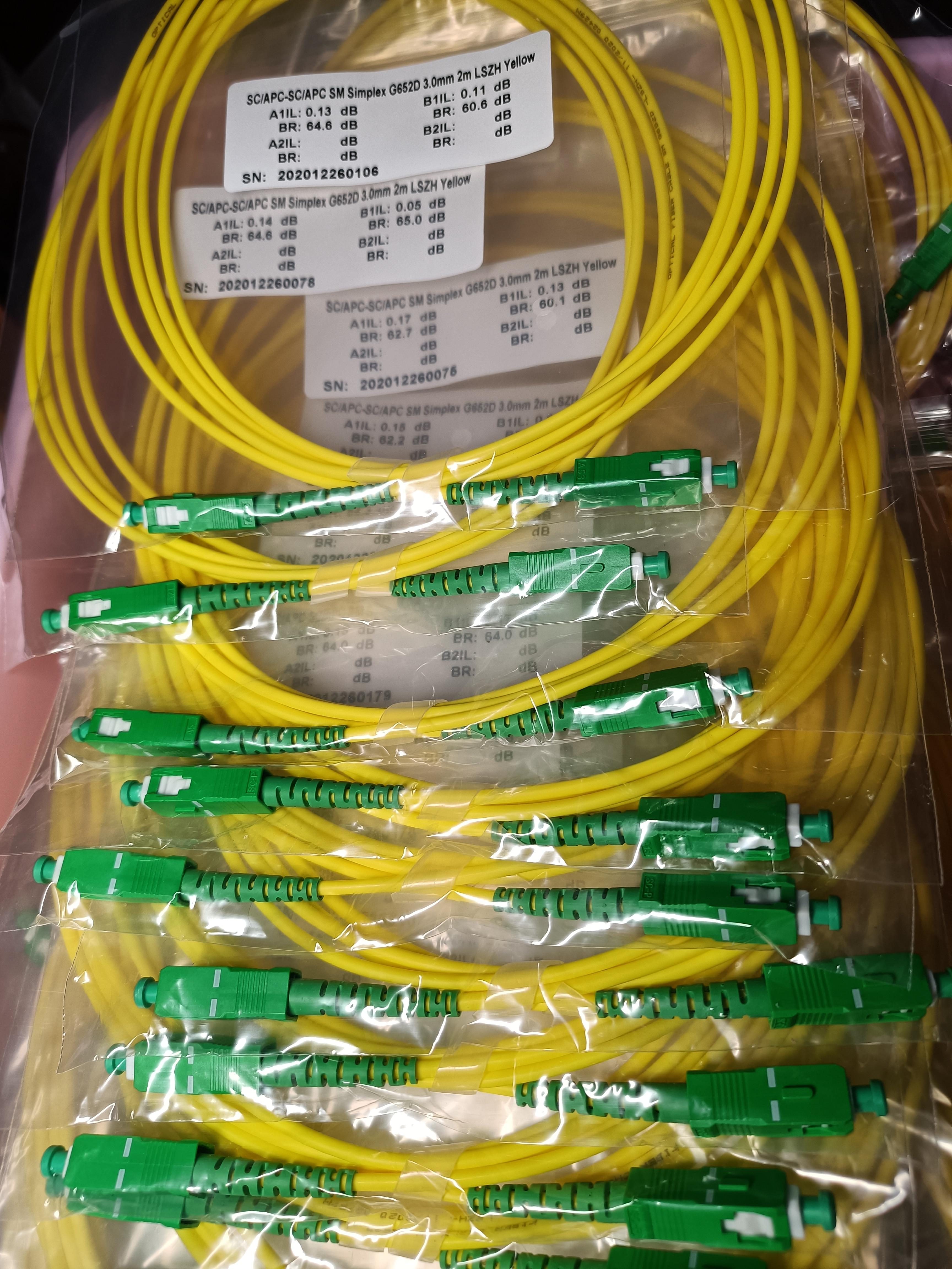 10PCS/bag SC APC Simplex mode fiber optic patch cord Cable  3.0mm FTTH  LSZH Fiber Optic Patch Cord 6