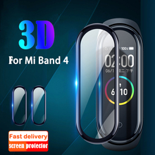 Film For Xiaomi Mi Band 4 protector soft glass for miband 4 Film Full Cover Screen Protection Case Protective smart Accessories cheap Ultra-thin Nano-coated Tempered Glass Film XMB0045