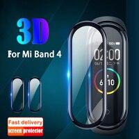 Film pour Xiao mi mi bande 4 protecteur verre souple pour mi bande 4 Film couverture complète écran étui de Protection accessoires intelligents de Protection
