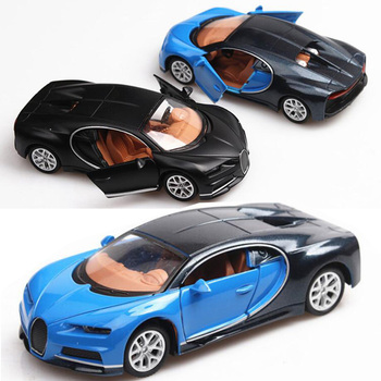 1/36 Diecast Alloy Car Toy Bugatti Chiron Metal Sports Mini Children Model Collection