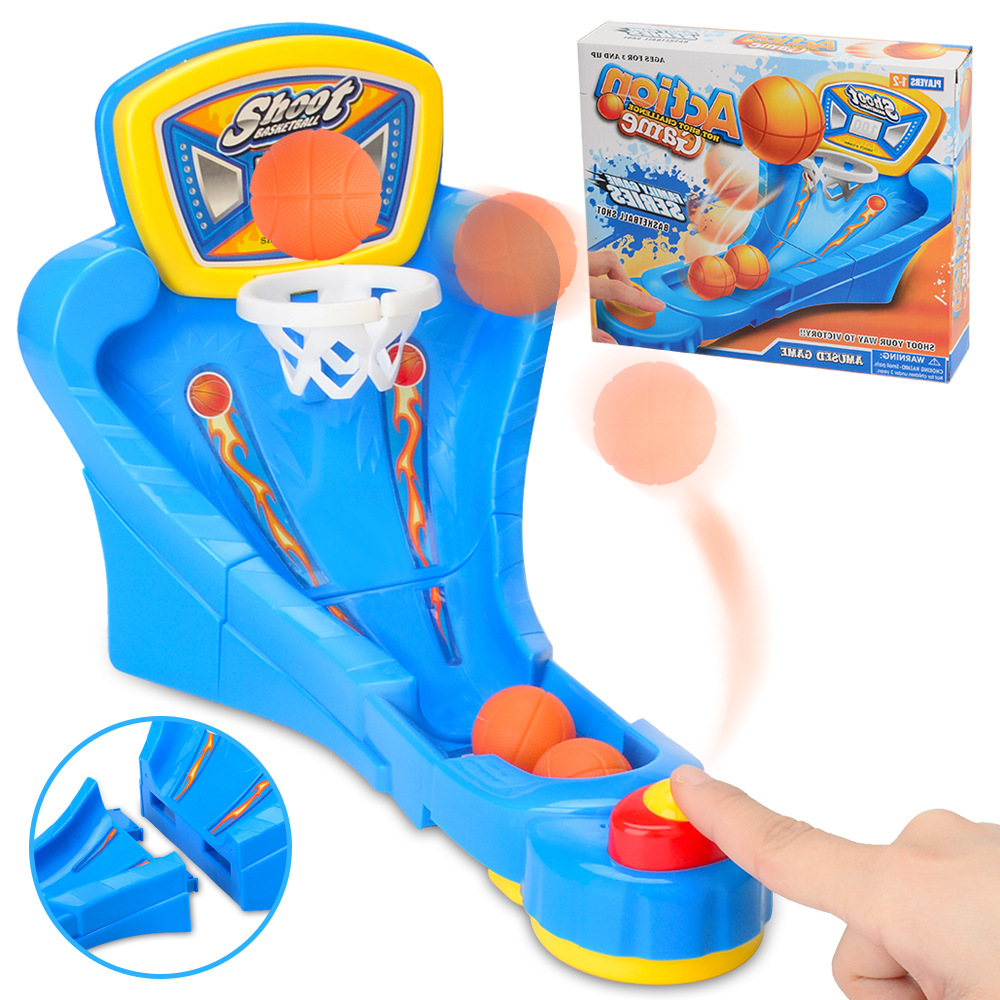 Mini zhuo mian lan qiu Game Table Finger Catapult Shot Counter Children'S Educational Parent And Child Interactive Toy