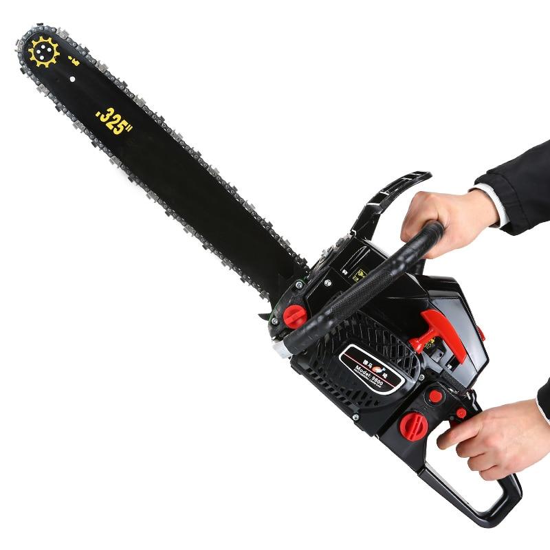 Sierra de cadena de gasolina para cortar madera herramientas eléctricas motosierra de gasolina 5000W 2 tiempos - 6
