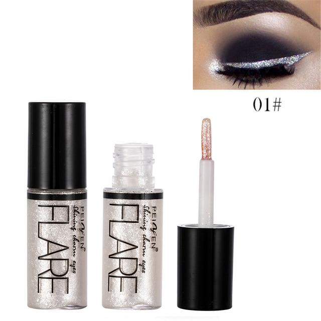 5 Color Metallic Shiny Eyeshadow Glitter Liquid Eyeliner Makeup Eye Liner Pen-Waterproof Makeup Pigment Eyeshadow Palette 6