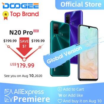 Doogee-teléfono inteligente N20 Pro, teléfono móvil con Quad Cámara, procesador Helio P60, Octa Core, 128GB ROM, versión Global, pantalla FHD de 6,3 pulgadas, Android 10 OS