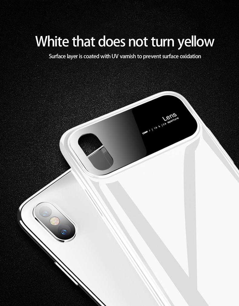 H7afe25600c0d4c03b5b7aacce429acfdV Plastic shell for iphone X XR XS MAX glass case iPhone 7 8 PLUS 11 Pro MAX ultra-thin anti-fall cover 360° surrounding shell