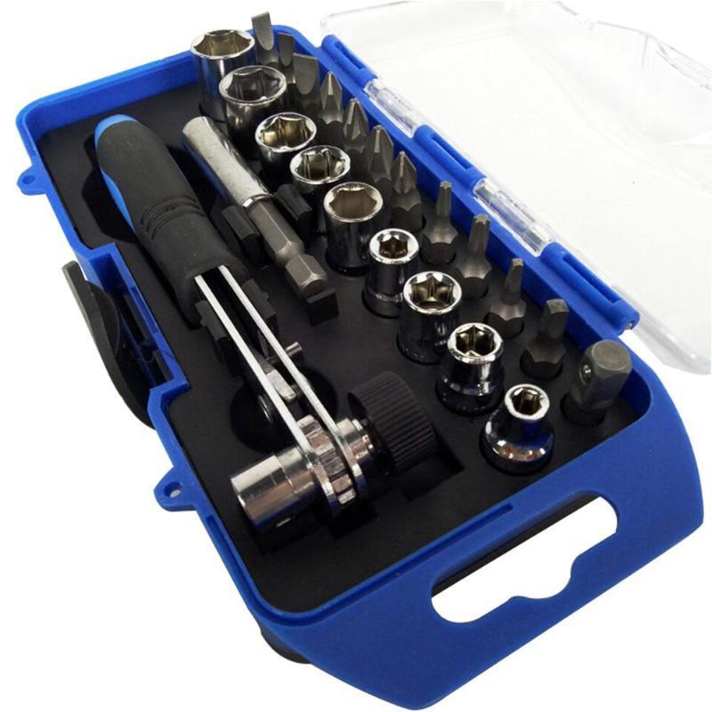 23/25pcs Mouw Schroevendraaier Set Ratelsleutel Socket Spanner Boor Combinatie Kits Voor Auto Fiets Snelle Reparatie Tool New