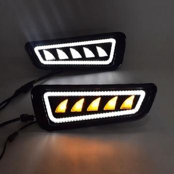 Car Styling Bright LED Daytime Running Lights for Ford F150 2018-2019 Waterproof Car DRL LED Fog Light