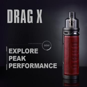 VOOPOO DRAG X — 18650-Pod original 80W de 4,5 ml de capacité, cigarette électronique avec batterie, bobines VM6 VM1