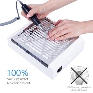 Image 2 - 40W yeni güçlü güç tırnak toz toplayıcı tırnak Fan sanat Salon emme elektrikli süpürge fanlar manikür makinesi sanat ekipmanları