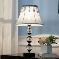 Fashion Black And Transparent Color Combined With Diamond Crystal Table Lamp For Bedroom Lobby Desk Lamp Abajur De Mesa Lamparas