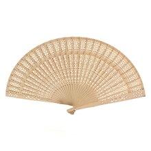 8 дюймов 20 см китайский традиционный винтажный стильный деревянный ручной складной веер с принтом веер из сандалового дерева