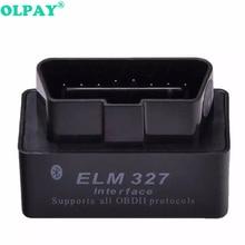 2019 Super MINI ELM327 Bluetooth OBD2 V2.1 Black Smart Car Diagnostic Interface ELM 327 Interance Code Reader Scan Tool