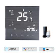 WiFi inteligentny termostat regulator temperatury do wody elektryczne ogrzewanie podłogowe woda kocioł gazowy współpracuje z Alexa Echo Google Home tanie tanio CN (pochodzenie) BTH-2000L Thermostat