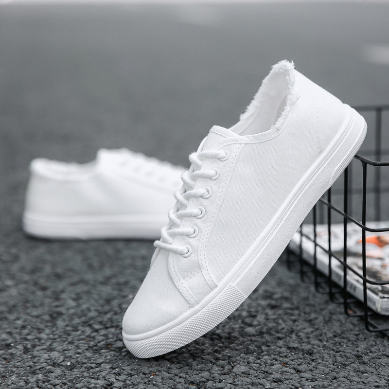 Classic Men's Canvas Shoes Chunky Sneakers Men Shoesmen Shoes Loafers Tenis Masculino Adulto Solid Color Zapatos De Hombre