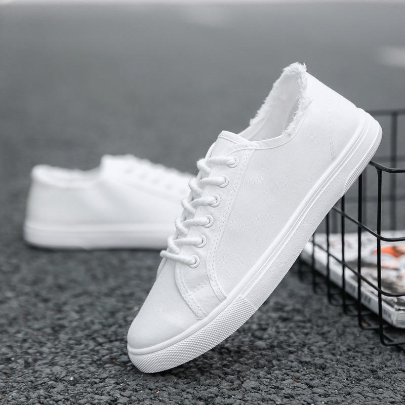 Classic Men's Canvas Shoes Chunky Sneakers Men Shoesmen Shoes Loafers Tenis Masculino Adulto Solid Color Zapatos De Hombre