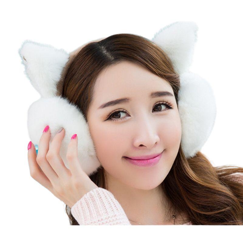 Fashion Plush Ear-cap Cute Women Girls Warm Comfortable Earmuffs Protec 517D